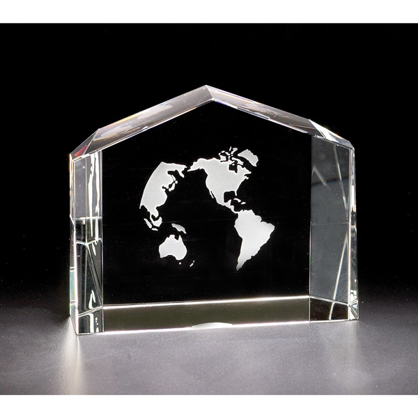 "Vista - 3 3/4"" X 1 1/4"" X 3"" - Vista Crystal Award By Crystal World Photo"