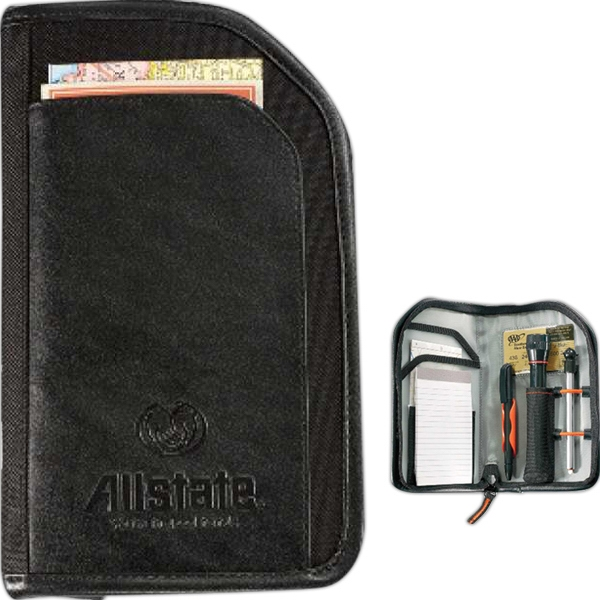 Roadside Companion Kit With Pen, Flashlight, Tire Pressure Gauge And Paper Pad Photo