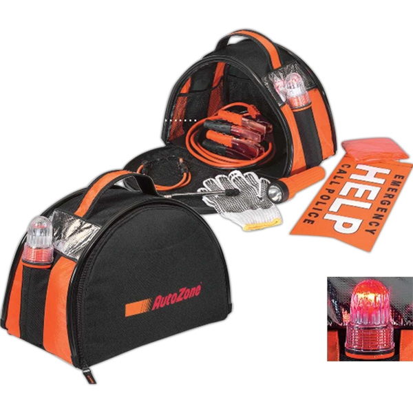 Roadside Safety Kit With Jumper Cables, 2 Bungee Cords And More Photo