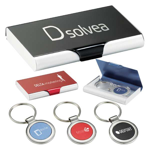 Aluminum, Compact Case Includes Matching Key Chain Photo