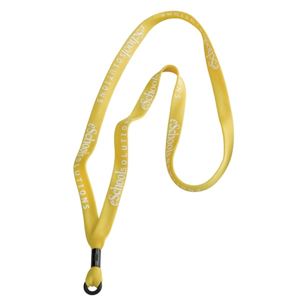 "5/8"" Polyester Lanyard With Metal Crimp And Rubber O-ring Photo"