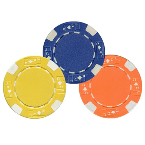 Casino-style, Heavyweight 11.5-gram, Imprinted Poker Chips Photo