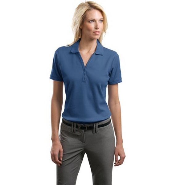 Port Authority (r) -  X S- X L Colors - Ladies' Performance Waffle Mesh Polo Shirt, Soft Texture, Flat Knit Photo