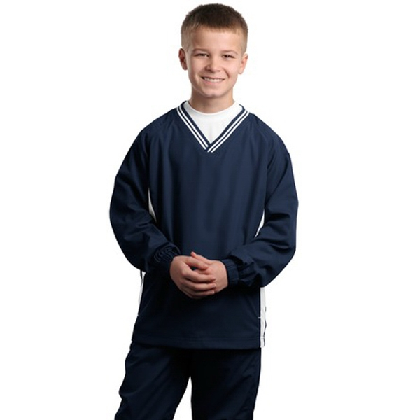 Sport-tek (r) - Youth Tipped V-neck Wind Shirt Photo