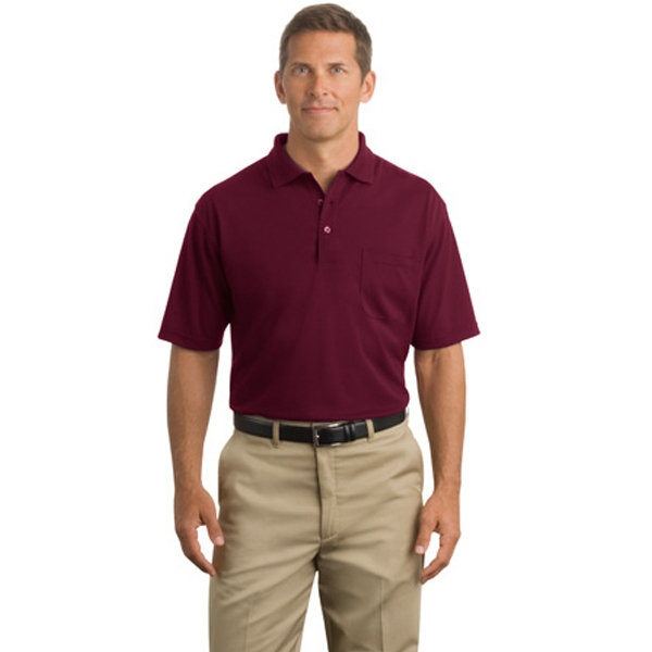 Cornerstone (r) Port Authority (r) - 3 X L Colors - Industrial Pique Polo Shirt With Pocket, 6.8 Ounce, 100% Spun Polyester Photo