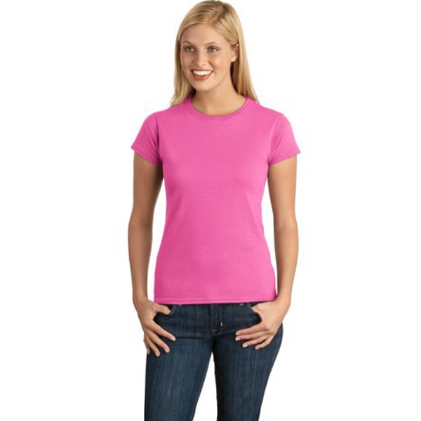 Gildan (r) Softstyle(tm) - S -  X L White - Ladies Softstyle Junior Fit Cotton T-shirt, 4.5 Ounce Photo