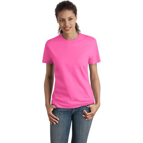 Hanes (r) Nano-t(tm) - S -  X L Heathers - Ladies' Ring Spun Cotton T-shirt, 4.5 Ounce Photo