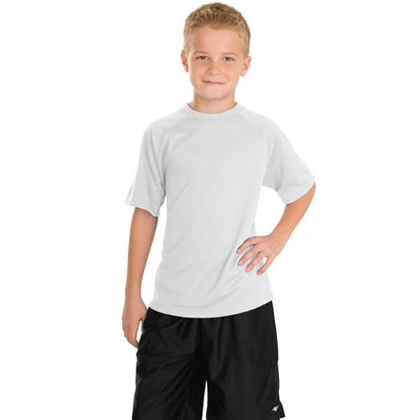 Sport-tek (r) - Youth Dry Zone (tm) Short Sleeve Raglan T-shirt Photo