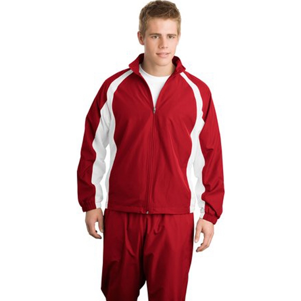 Sport-tek (r) - 3 X L Colors - Full Zip 5 In 1 Warm-up Jacket With Mesh Lined Sleeves Photo