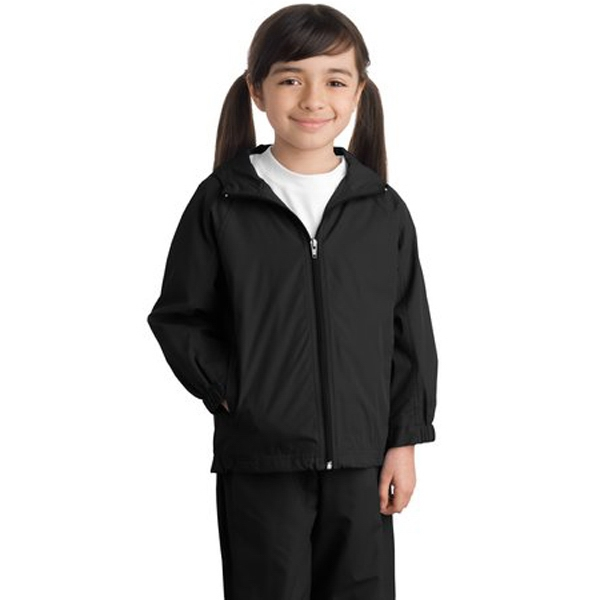 Sport-tek (r) - Youth Hooded Raglan Jacket, 100% Polyester Shell Photo