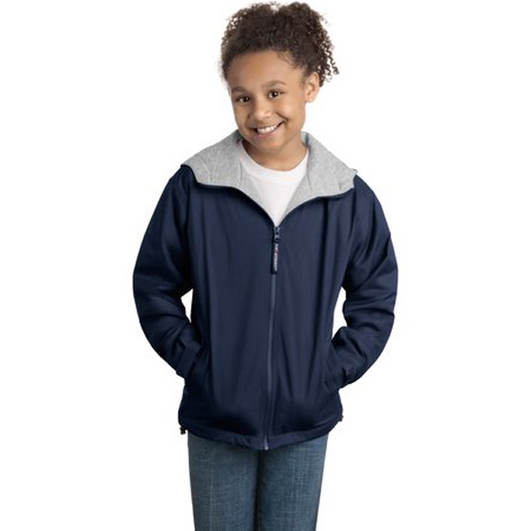 Port Authority (r) - Youth Team Jacket With Drawstring Hood, Locker Loop And Slash Pockets Photo