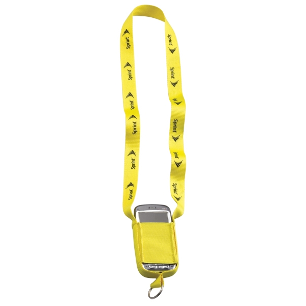 "3/4"" Polyester Cell Phone Lanyard With Metal Split Ring. Clearance Photo"