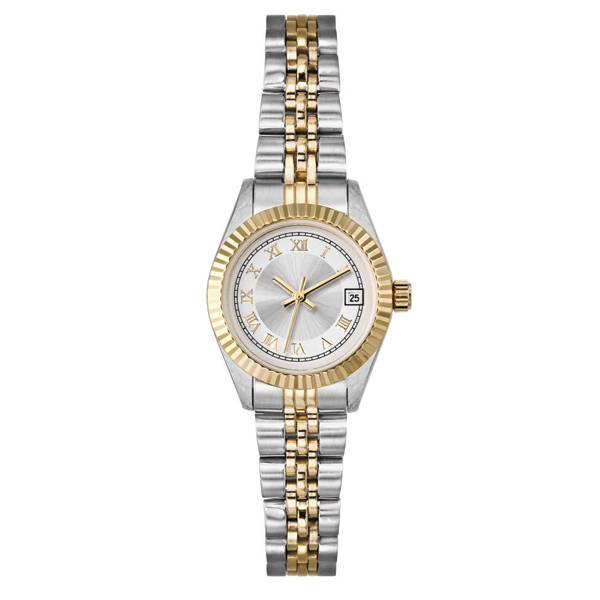 Ladies' - Watch With Two Tone Silver And Gold Finish Photo