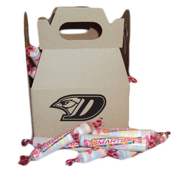 Cardboard Gable Box With Individually Wrapped Smartees Candies Photo
