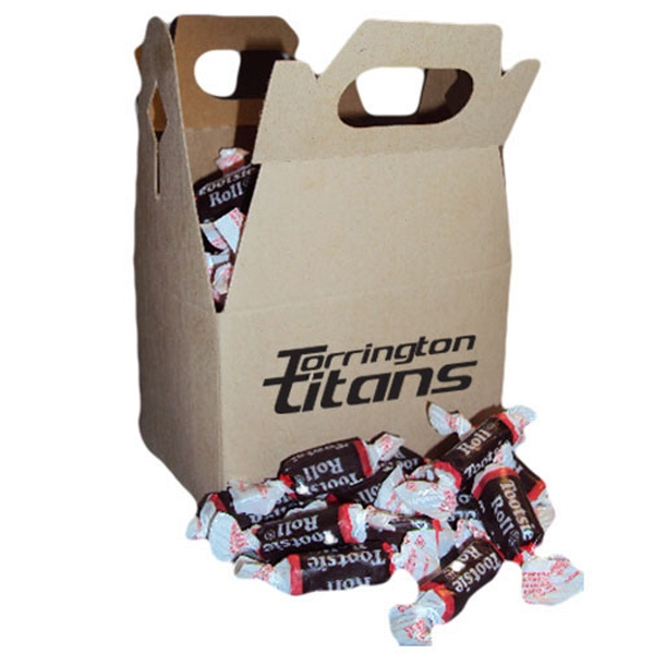 Cardboard Gable Box With Individually Wrapped Tootsie Rolls Candies Photo