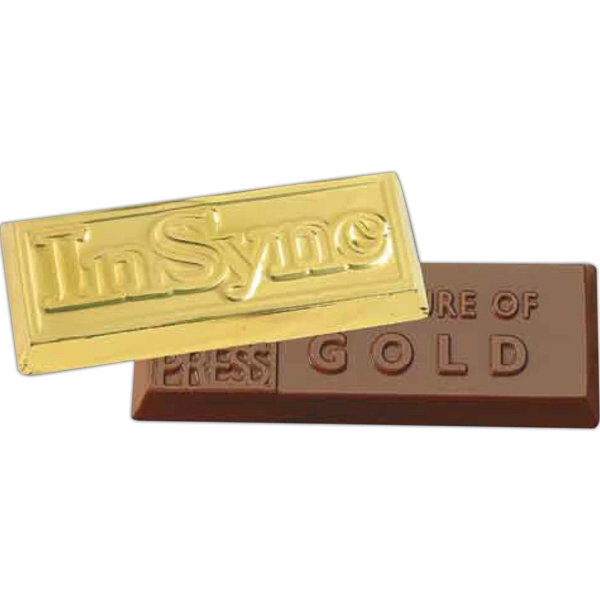 Foil Wrapped Gold Chocolate Shaped Bar