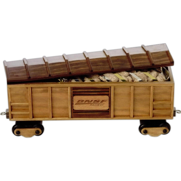 Imported Empty Wooden Collectible Box Car Photo