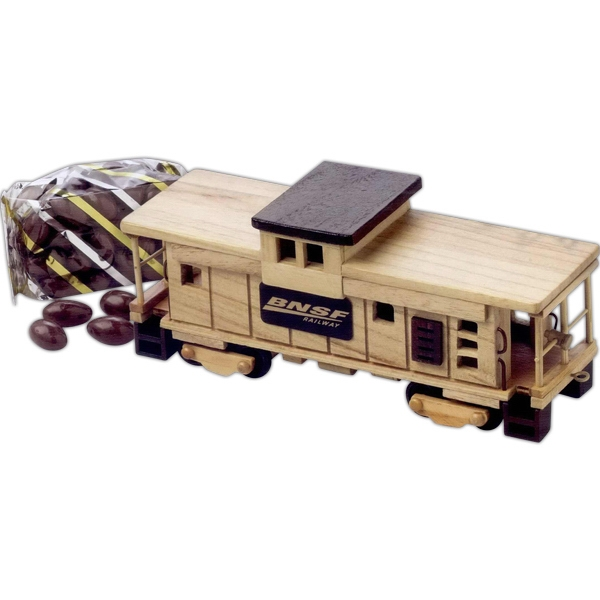 Chocolate Almonds In An Imported Wooden Train Caboose Photo