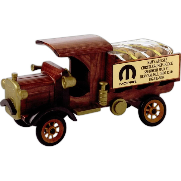 Imported Wooden Nostalgia Delivery Truck Empty Collectible Photo