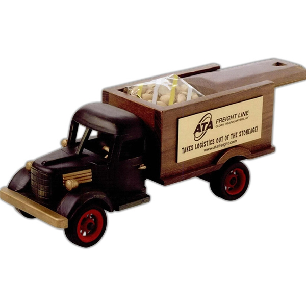 "Imported Empty Wooden 12 1/4"" X 4 1/2"" X 5"" Sliding Lid Truck Collectible Photo"