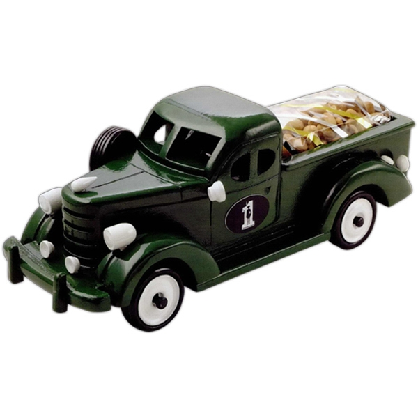 Mixed Nuts In An Imported Green Wooden Pickup Truck Photo