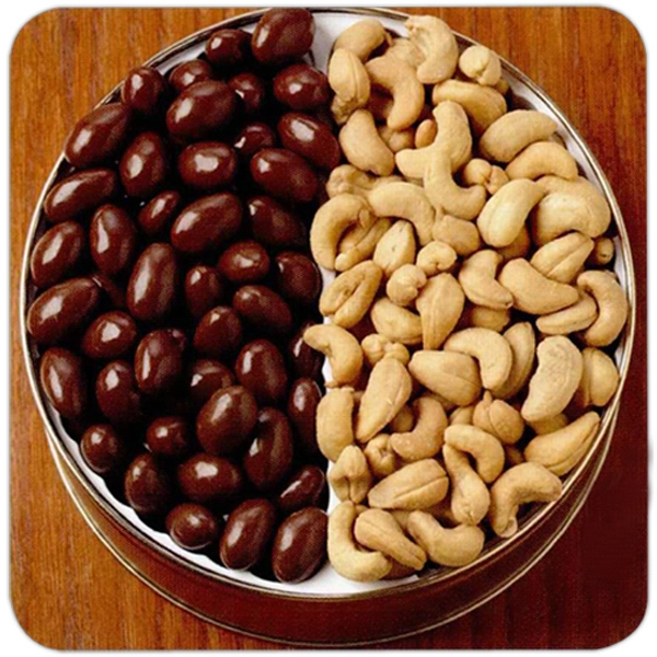 Chocolate Almonds/cashews Designer Gift Tin Photo