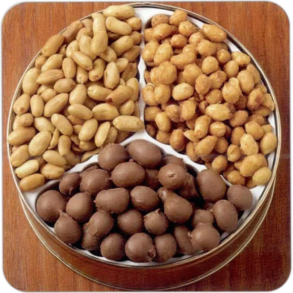 Peanut Lovers Designer Gift Tin With Blanched Peanuts And More Photo