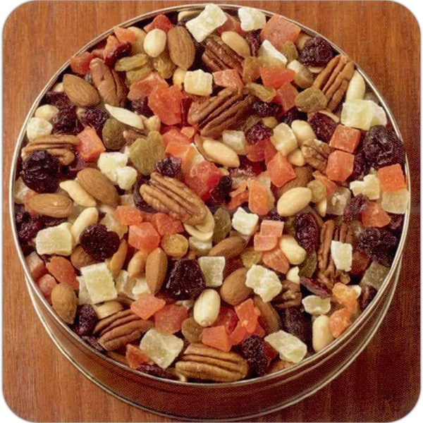 "Cranzy Berry Mix In 6 11/16"" X 1 13/16"" Round Custom Gift Tin; 16 Oz Photo"