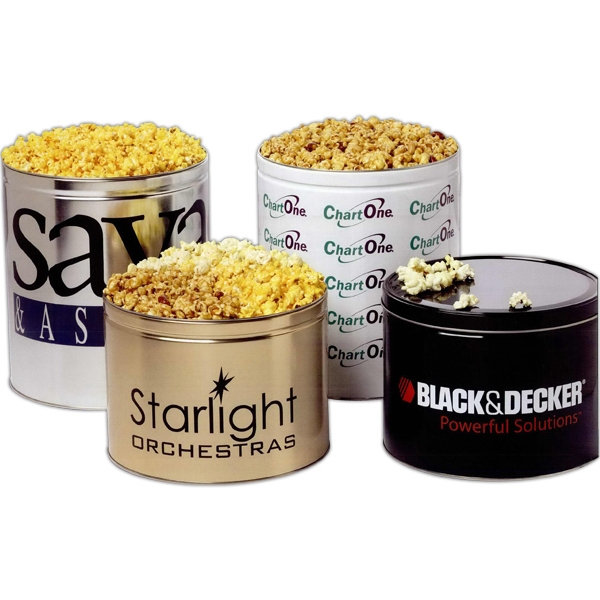 Three Way Popcorn Sampler In 2 Gallon Tin Photo