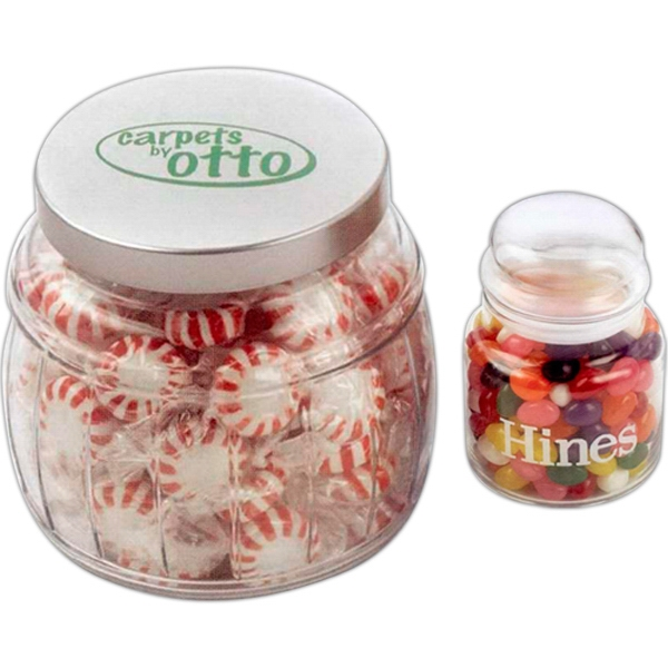 Large Apothecary Jar Filled With 12 Ounces Net Weight Deluxe Mixed Nuts (no Peanuts) Photo
