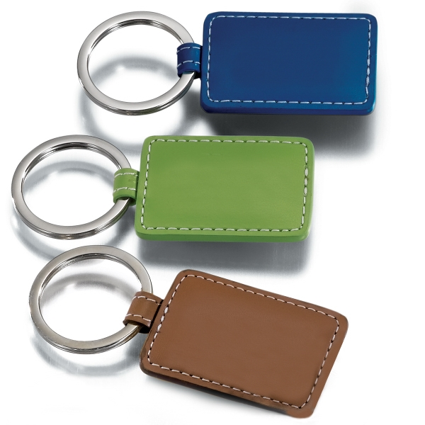 Limelight Leeman New York Collection - Leather Key Fob With Bright Metal Flat-edge Split Ring. Closeout Photo