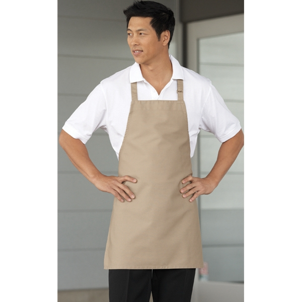 7 1/2 Oz Poly Cotton Twill Apron With Adjustable Neck. No Pocket Photo