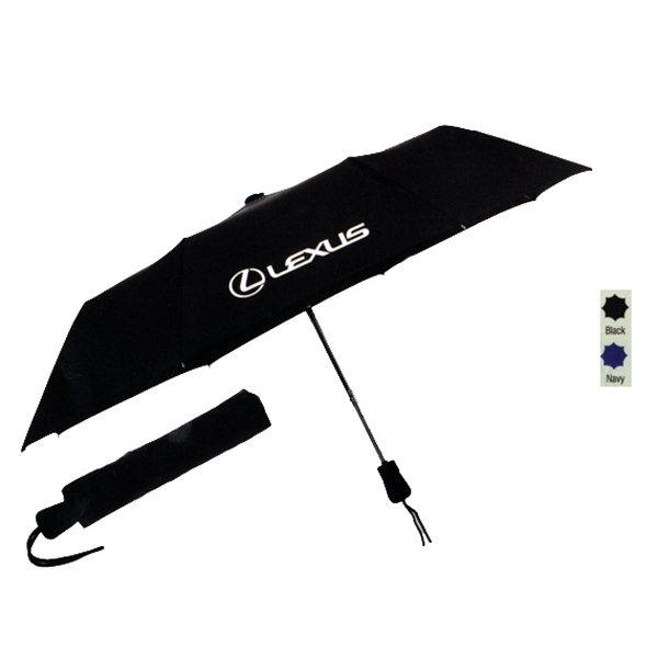 "The Element - Automatic Opening Umbrella With 42"" Arc, Matching Nylon Sleeve And Rubber Handle Photo"