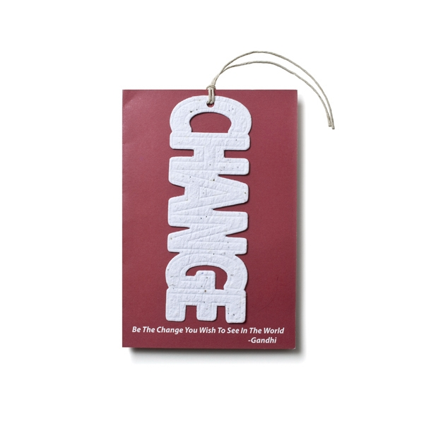 Turbine seed paper card