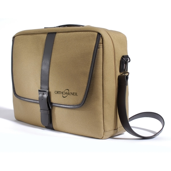 Hamilton - Printed - Tan Waterproof Canvas Computer Case, Accented With Brown Trim For A Classic Look Photo