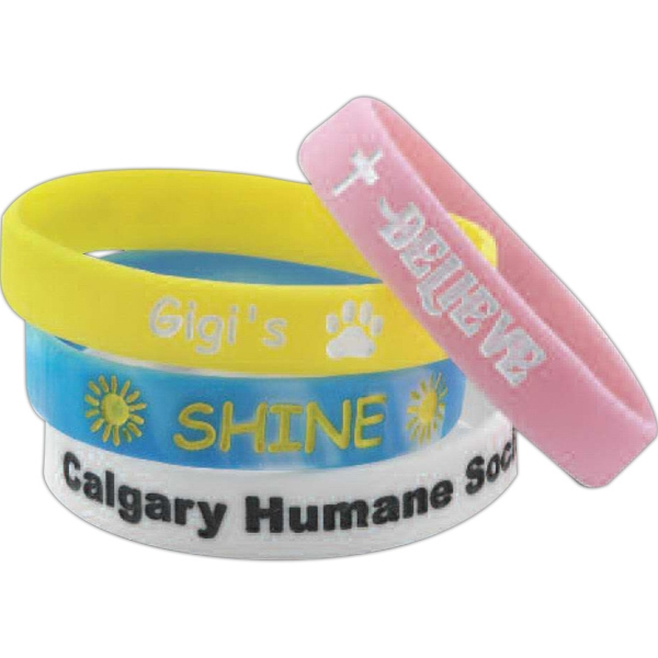 Silicone Wristband Color Filled