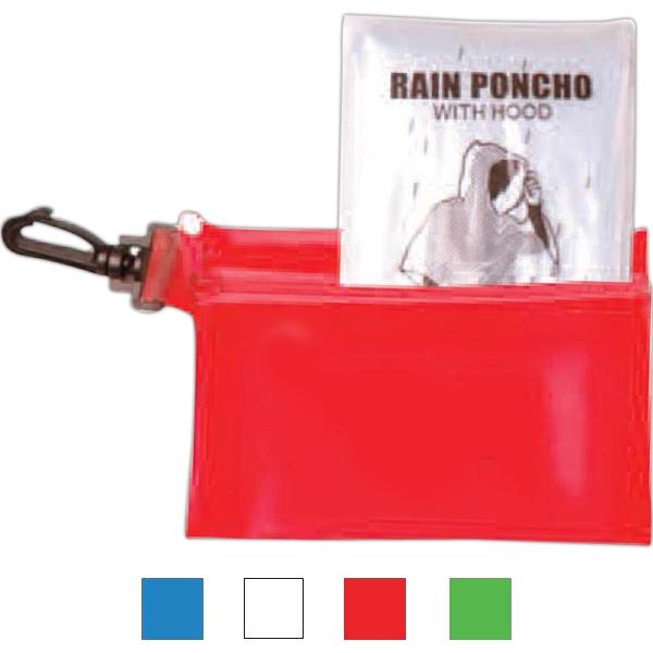 Rain Poncho in Zipper Tote