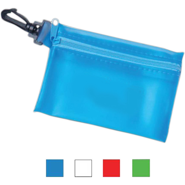 Zippered Pouch with Hook Clip