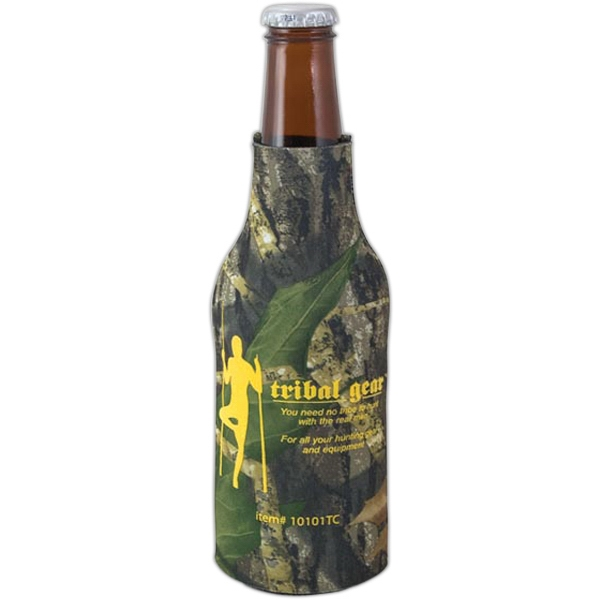 "Camo Bottle Coolie (tm) - Trademark Camouflage Bottle Insulator, 1/8"" Thick High-density Open-cell Scuba Foam Photo"