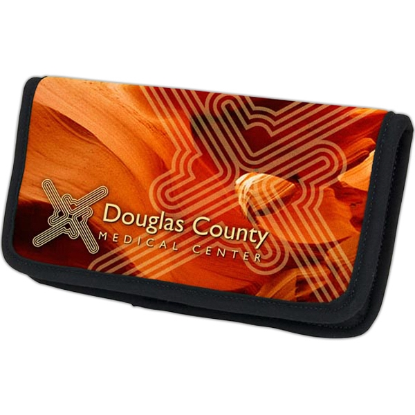 Four Color Process Checkbook Cover With Clear Vinyl Pockets Photo