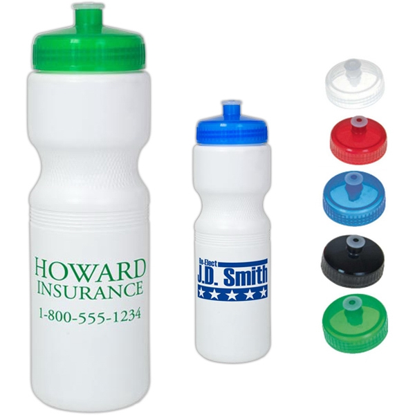 Bio-plastic 28 Oz. Bike Bottle With Sip Through Lid Photo