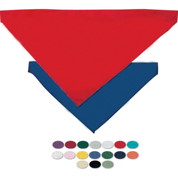 Blank, Large Pet Bandana With Hemmed Opening For Collar Photo