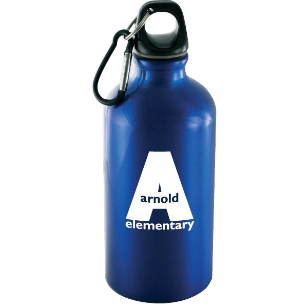 Voyager - Blue - 18 Oz Aluminum Sport Bottle With Carabiner Photo