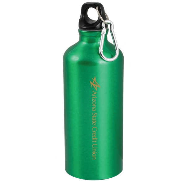 Polaris - Green - 24 Oz Aluminum Sport Bottle With Carabinier Photo