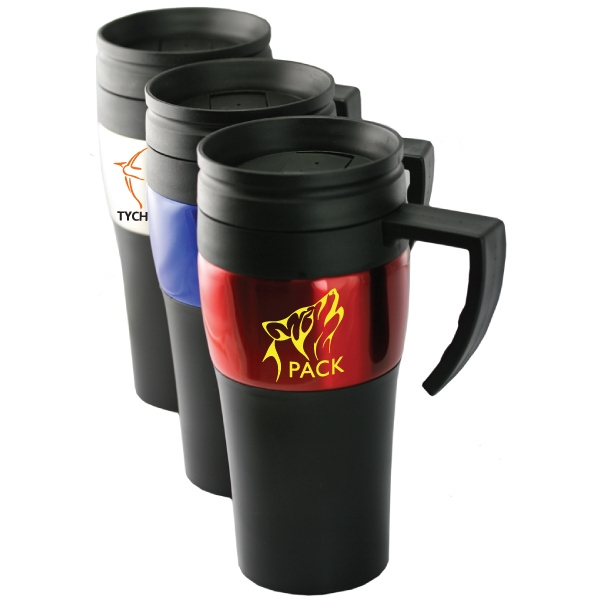 Regular Joe - 14 Oz Stainless Steel Travel Mug With Plastic Twist-in Lid With Slide Closure Photo