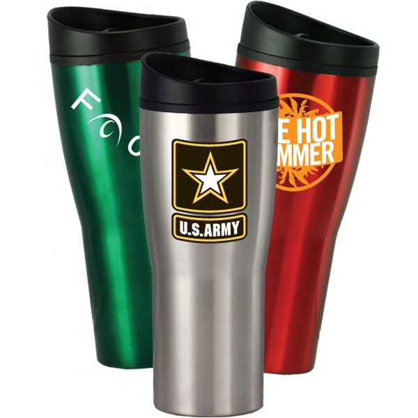 Sippy - 16 Oz. Travel Tumbler With Stainless Steel Outer Shell, And Plastic Liner Photo