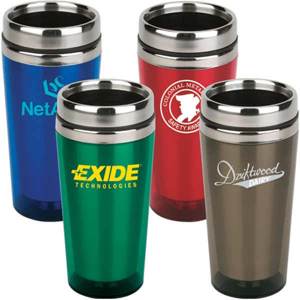 16 Oz. Travel Tumbler With Stainless Steel Liner And Acrylic Outer Shell Photo
