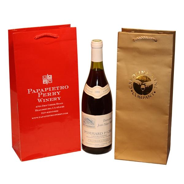 Eurotote Wine Bag - Burgundy - 5.25 x 3.5 x 13