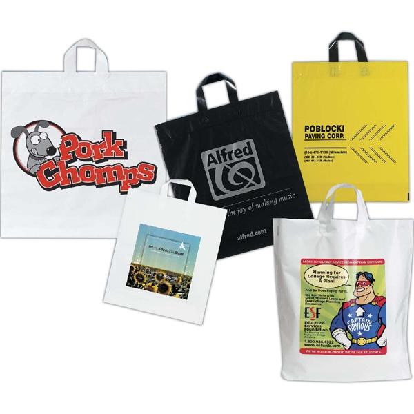 16W x 18H x 6 Custom Soft loop handle bag