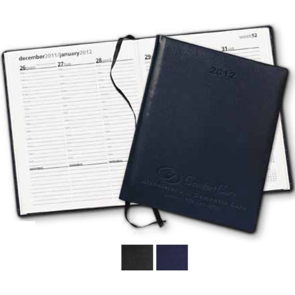 Symphony - Soft Padded Cover Debossed Weekly Desk Planner Photo
